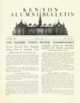Kenyon Alumni Bulletin - July 1950