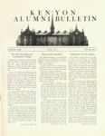 Kenyon Alumni Bulletin - Fall 1951