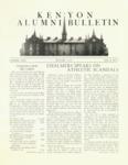 Kenyon Alumni Bulletin - Winter 1952