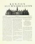Kenyon Alumni Bulletin - Summer 1952
