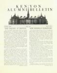 Kenyon Alumni Bulletin - Fall 1952