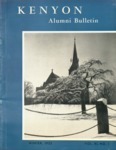 Kenyon Alumni Bulletin - Winter 1953