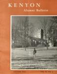 Kenyon Alumni Bulletin - Autumn 1953