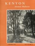 Kenyon Alumni Bulletin - Autumn 1954
