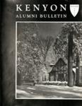 Kenyon Alumni Bulletin - Winter 1956