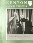 Kenyon Alumni Bulletin - Spring 1957