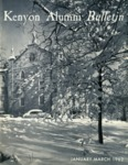 Kenyon Alumni Bulletin - January-March 1962