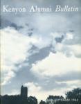 Kenyon Alumni Bulletin - July-September 1962