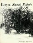 Kenyon Alumni Bulletin - January-March 1963