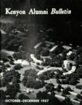 Kenyon Alumni Bulletin - October-December 1967