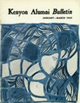 Kenyon Alumni Bulletin - January-March 1969
