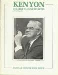 Kenyon College Alumni Bulletin - September 1977