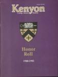 Kenyon College Alumni Bulletin - Summer/Fall 1981