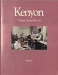 Kenyon College Alumni Bulletin - 1986-87 Annual Report