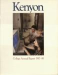 Kenyon College Alumni Bulletin - 1987-88 Annual Report