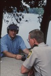 Mike Miller and fieldworker Chris Grasso at Kokosing Reservoir Park by Lori Liggett