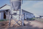 Southern elevations of Yoder's shop. The large tower is the holding bin for sawdust that is collected by a large blower system similar to the one found at Garber's sawmill by Linda Stoltzfus