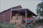 Shot of barn with hay across the road from Cassell Farm by Selina Lim