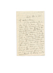 Letter to Maria (Mamy) Du Bois (daughter)