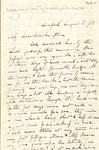 Letter to G.W. Du Bois (son-in-law) by Charles Pettit McIlvaine
