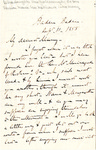 Letter to Maria (Mamy) Du Bois (daughter) by Charles Pettit McIlvaine