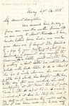Letter to Maria (Mamy) Du Bois, (daughter) by Charles Pettit McIlvaine