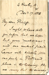 Letter to C.P. McIlvaine by Samuel Waldengrove