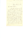 Letter to Unknown Recipient by Charles Petit McIlvaine