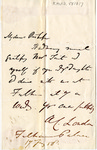 Letter to Charles Petit McIlvaine by Bishop of London