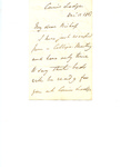 Letter to C.P. McIlvaine by Edwin Guest Dr.