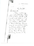 Letter to Reverend E. Allen