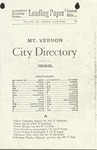 Mt. Vernon City Directory, 1898