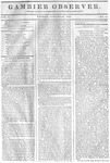 Gambier Observer, January 23, 1835
