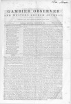 Gambier Observer, February 22, 1840