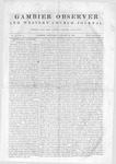 Gambier Observer, January 18, 1840