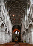 Hereford Cathedral, nave looking towards the apse, 1079-16th century, Romanesque/Early English Style, Hereford, England