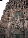 Strasbourg Cathedral, lower center west facade, 1176-1439