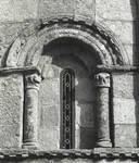 San Martin de Sobran, window on the apse, c. 1100. Romanesque, Villajuan, Salnes area of Pontevedra Province, Galicia, Spain
