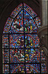 Rouen Cathedral, Joseph window, apse, window 17, c. 1220-1230, Gothic stained glass, France.