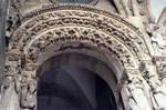 Santiago de Compostela, Portico de la Gloria, Archivolts of left portal