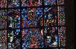 Rouen Cathedral, Joseph window, apse, window 16, section 6 (lower), c. 1220-1230, Gothic stained glass, France.