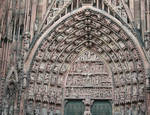 Strasbourg Cathedral, tympanum, central portal, west facade, 1176-1439