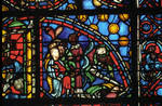Rouen Cathedral, apse, window 24, section 3, c. 1220-1230, Gothic stained glass, France