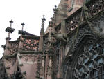 Strasbourg Cathedral, gargoyles, north side, 1176-1439, High-Late Gothic, Strasbourg, France/Germany, architecture, sculpture