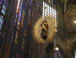 Aachen Cathedral, Virgin in the sun, apse