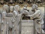 Notre Dame, Paris, north transept portal tympanum, Presentation in the Temple