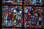 Rouen Cathedral, Sts. Peter and Paul Window, Apse, window 26, near the top