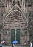 Strasbourg Cathedral, central portal, west facade, 1176-1439