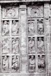 Santiago de Compostela, Master Mateo, sculptures flanking the Puerta Santa