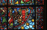 Rouen Cathedral, apse, window 24, section 5, c. 1220-1230, Gothic stained glass, France